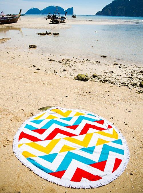 serviette de plage ronde turkei