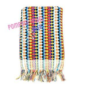 pompom towel multicolor